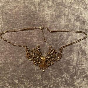 Stag Embellished Necklace